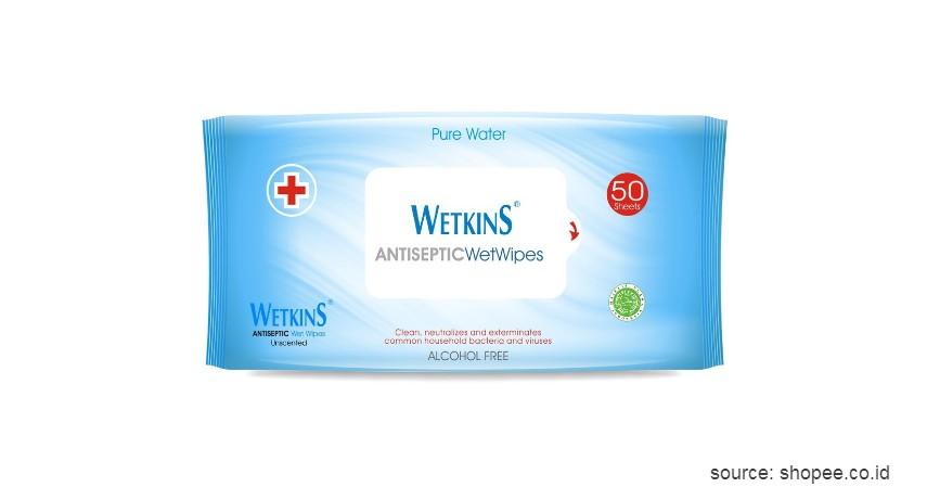 Unscented Wetkins Antiseptic Wet Wipes - 10 Merek Tisu Terbaik Ini Murah dan Ramah Lingkungan