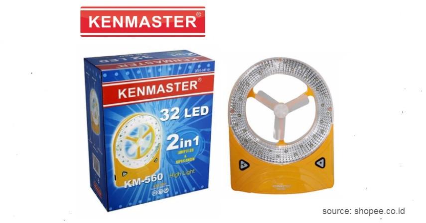 Kenmaster – KM560 - 9 Merk Lampu Emergency Terbaik, Siap Menerangi saat Listrik Padam.jpg