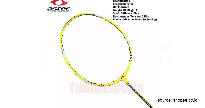 Astec - 12 Merek Raket Badminton Terbaik yang Banyak Digunakan Atlet Ternama