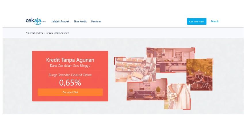 Cara Apply Pinjaman KTA Standard Chartered Melalui CekAja - Pilih Menu Kredit & Pinjaman
