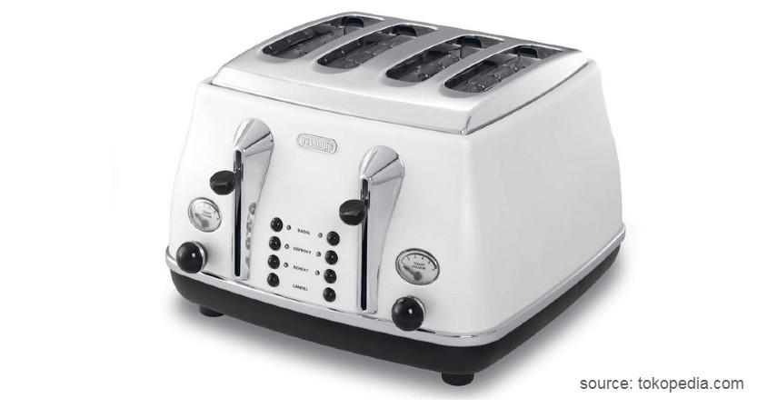 Delonghi 4 Slice Toaster CTO 4003 - 10 Pemanggang Roti Terbaik dengan Kualitas dan Fitur Mumpuni!