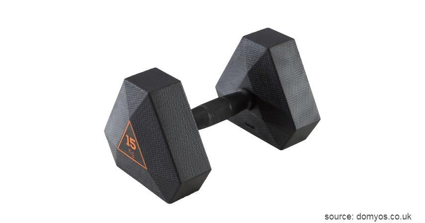 Domyos Hex Dumbbell - 7 Dumbbell Barbell Fitness Terbaik untuk Pemula Olahraga di Rumah
