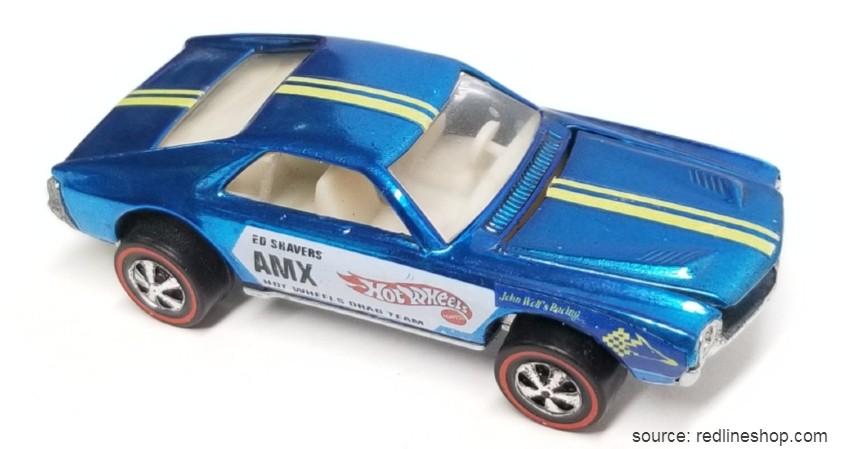 Ed Shaver Blue AMX 1969 - 10 Hot Wheels Termahal di Dunia