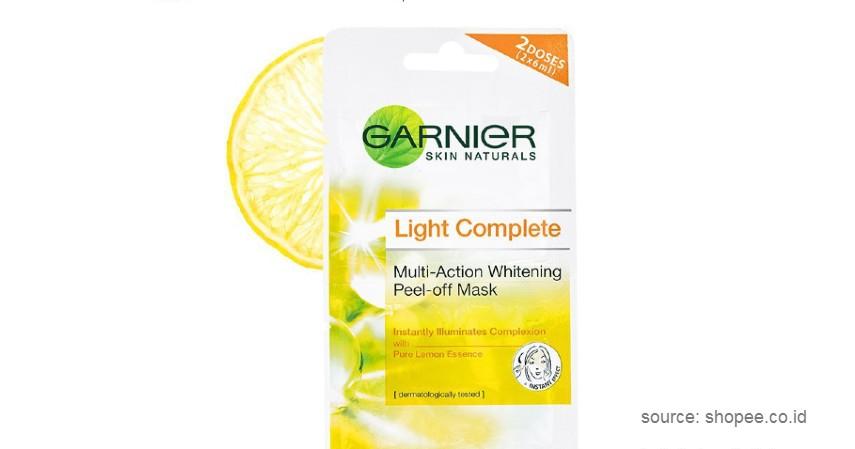 Garnier Lightening Peel Off Mask - 10 Rekomendasi Peel Off Mask Lokal Terbaik