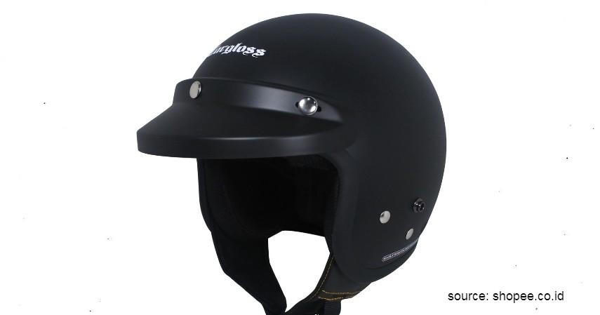 Helm Cargloss Retro - 6 Helm Half Face Terbaik untuk Wanita