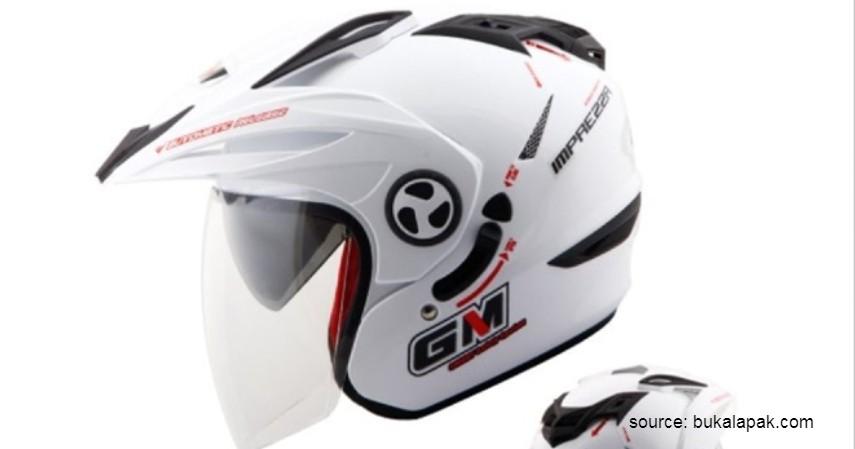 Helm GM New Imprezza Solid Double Visor - 6 Helm Half Face Terbaik untuk Wanita
