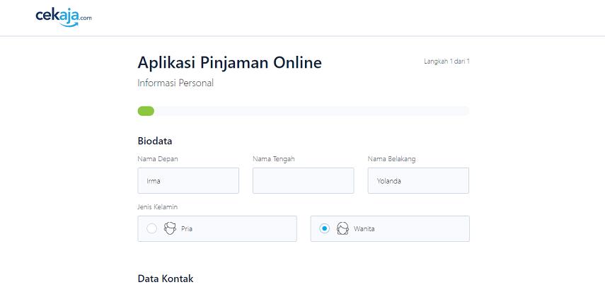 Isi Informasi Personal - Cara Apply Pinjaman Online JULO Lewat CekAja