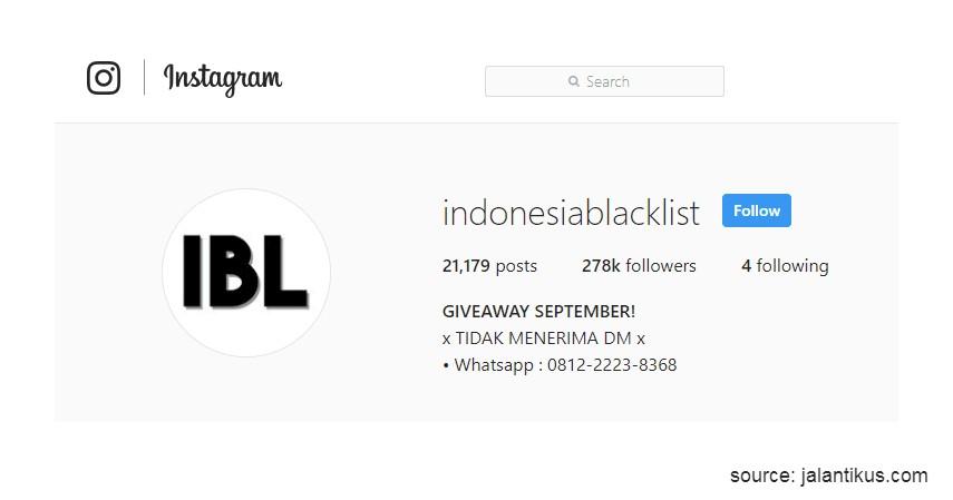 Melaporkan Penjual Online Penipu Lewat IG @indonesiablacklist - 7 Cara Melaporkan Penjual Online Penipu Terlengkap Selain ke Polisi
