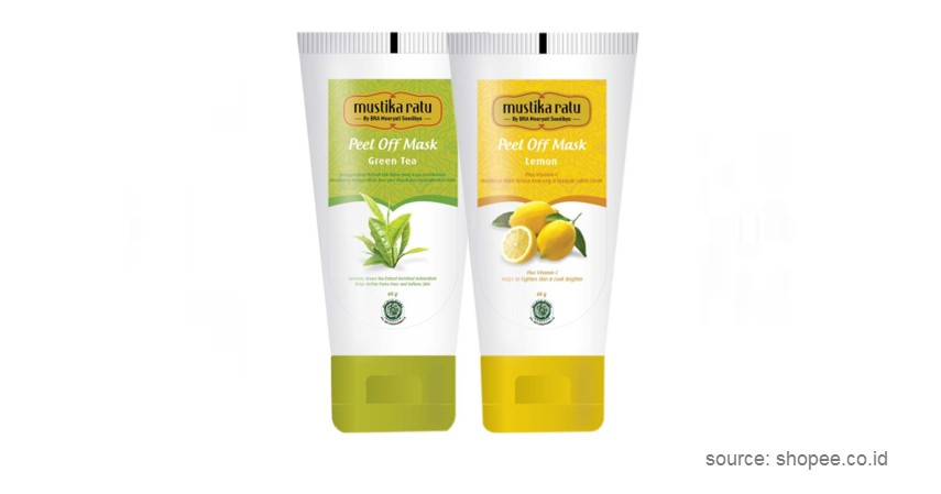 Mustika Ratu Peel Off Mask Green Tea - 10 Rekomendasi Peel Off Mask Lokal Terbaik