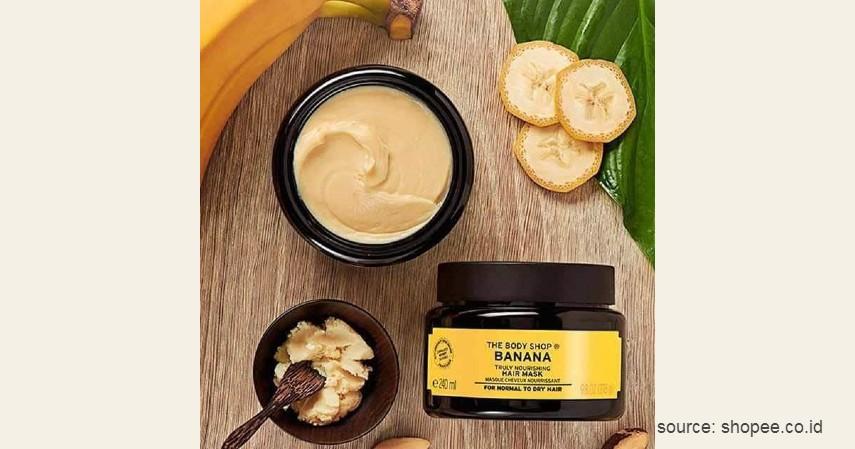 The Body Shop Banana Truly Nourishing Hair Mask - 11 Merek Masker Rambut Terbaik dan Bagus untuk Sehatkan Rambut