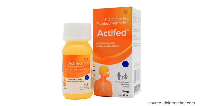 Actifed - 10 Obat Batuk Kering dan Berdahak Paling Ampuh Beserta Harganya
