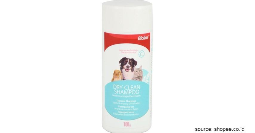 Bioline Dry Clean Shampoo - 8 Rekomendasi Shampo Terbaik untuk Anjing Beserta Tips Memilihnya