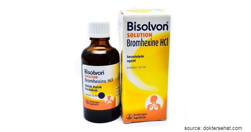 Bisolvon - 10 Obat Batuk Kering dan Berdahak Paling Ampuh Beserta Harganya