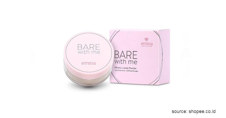 Emina Bare With Me Mineral Loose Powder - 10 Rekomendasi Bedak Tabur Terbaik dengan Harga Terjangkau