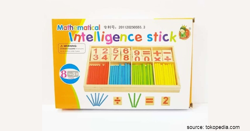Mainan Edukasi untuk Anak - Mainan Montessori Berhitung Mathematical Intelligence Stick