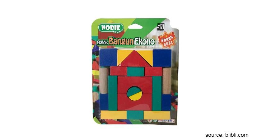 Mainan Edukasi untuk Anak - Nobie Toy Balok Bangun Ekono