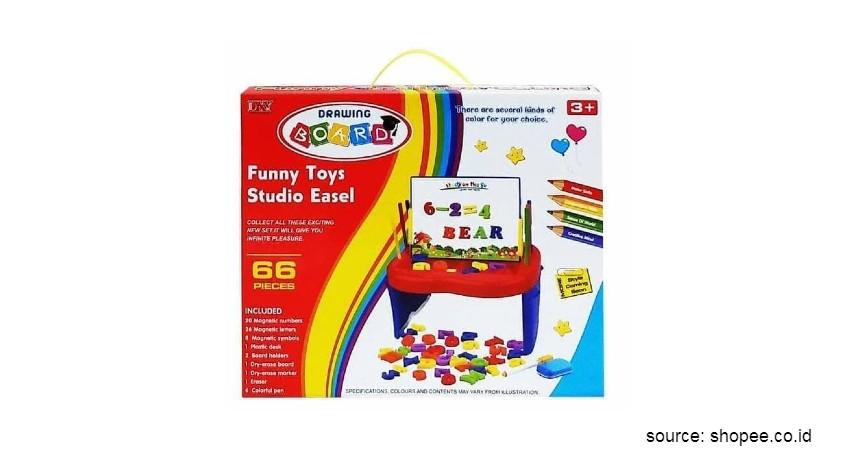 Mainan Edukasi untuk Anak - Papan Gambar Funny Toys Studio Easel Drawing Board