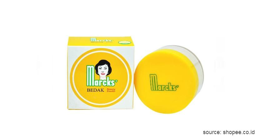 Marcks' Active Beauty Powder - 10 Rekomendasi Bedak Tabur Terbaik dengan Harga Terjangkau