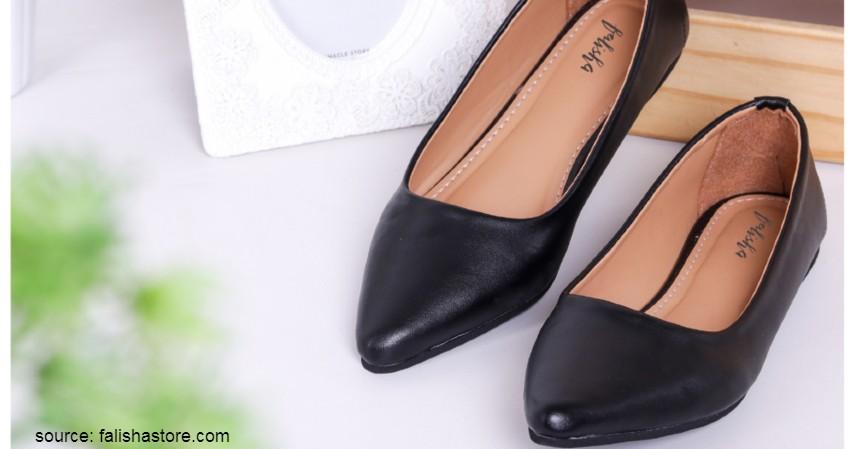 Merk Flat Shoes Lokal Terbaik - Falisha – Irene Sweet Black