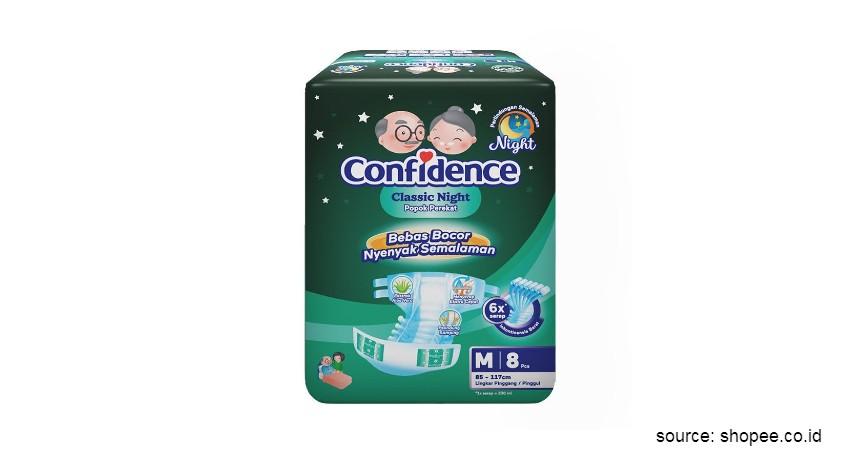 Merk Popok Dewasa yang Bagus - Confidence Adult Diapers Classic Night