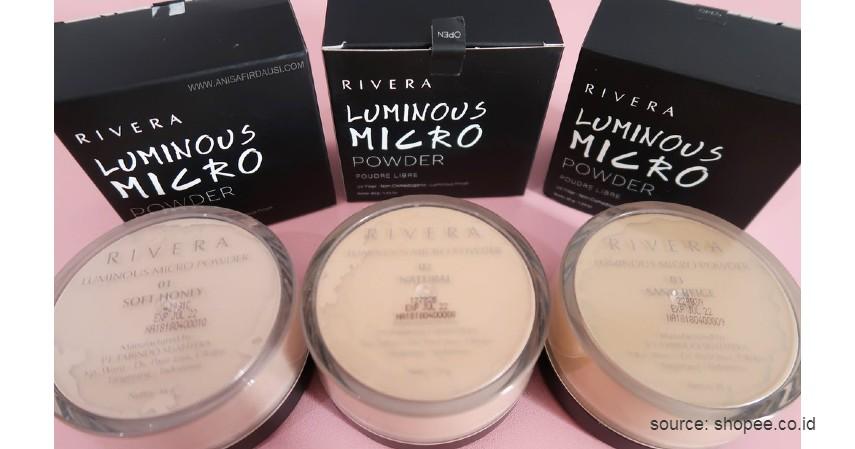 Rivera Luminous Micro Powder - 10 Rekomendasi Bedak Tabur Terbaik dengan Harga Terjangkau