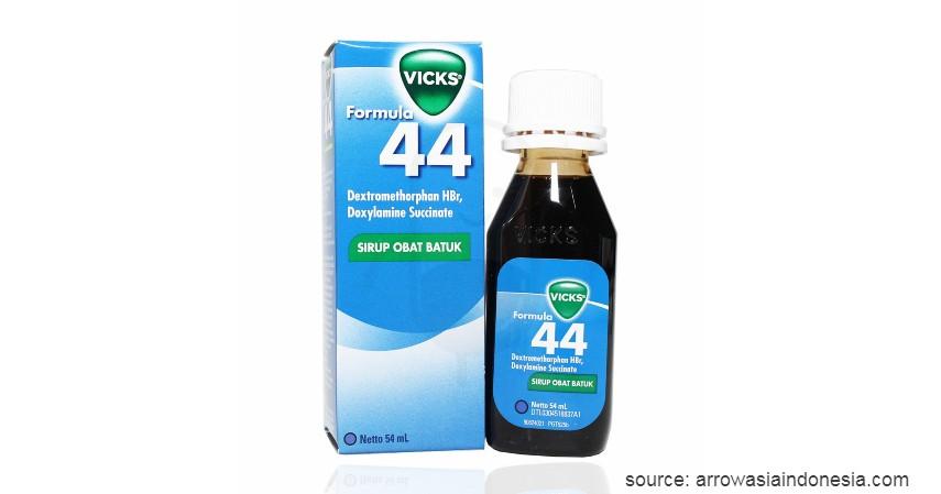 Vicks Formula 44 - 10 Obat Batuk Kering dan Berdahak Paling Ampuh Beserta Harganya