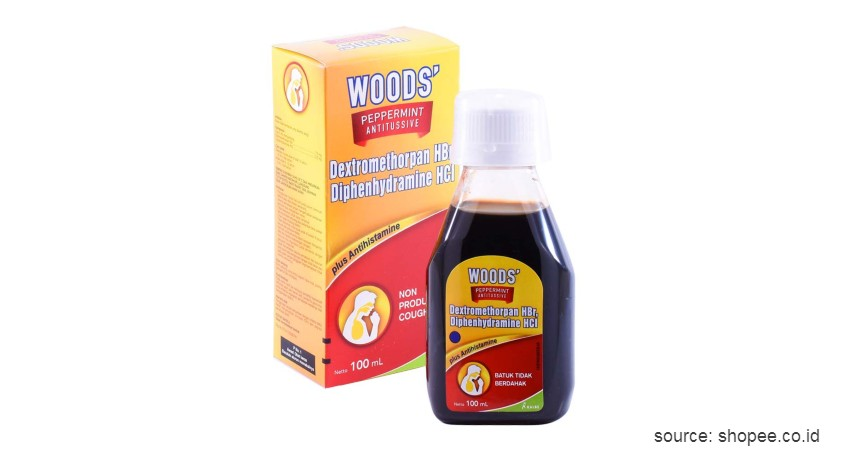 Woods - 10 Obat Batuk Kering dan Berdahak Paling Ampuh Beserta Harganya
