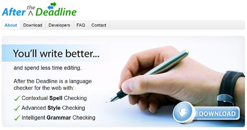 After the Deadline - 12 Aplikasi Untuk Cek Tata Bahasa atau Grammar Inggris Gratis