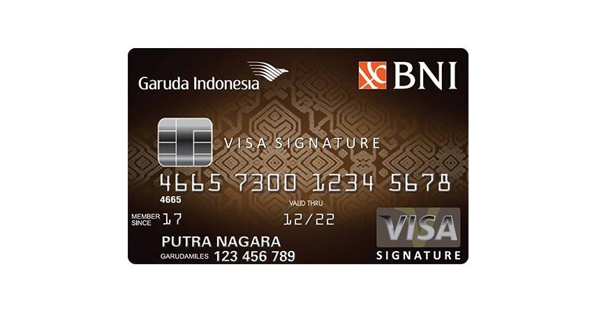 BNI Garuda Indonesia Visa Signature - 7 Daftar Kartu Kredit untuk Liburan ke Luar Negeri