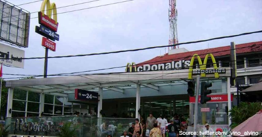 McDonald's Kuta - 7 Restoran Indonesia yang Tutup Di Tahun 2020 Akibat Pandemi Corona