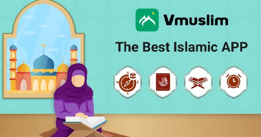 Muslim Prayer Times Azan Quran Qibla by Vmuslim - 7 Aplikasi Kiblat Terbaik