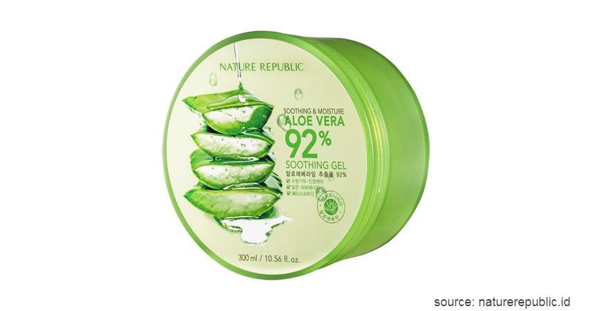 Nature Republic Aloe Vera 92% Soothing Gel - 8 Skin Care Korea Terbaik untuk Semua Jenis Kulit