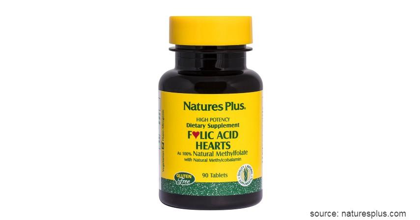 Natures Plus Folic Acid Hearts - Vitamin Ibu Hamil Terbaik