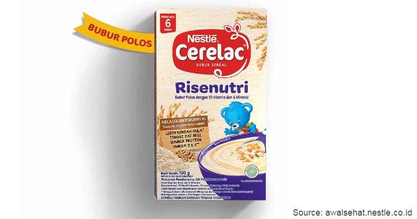 Nestle Cerelac - 8 Merek Bubur Bayi Instan Terbaik dengan Komposisi Bergizi