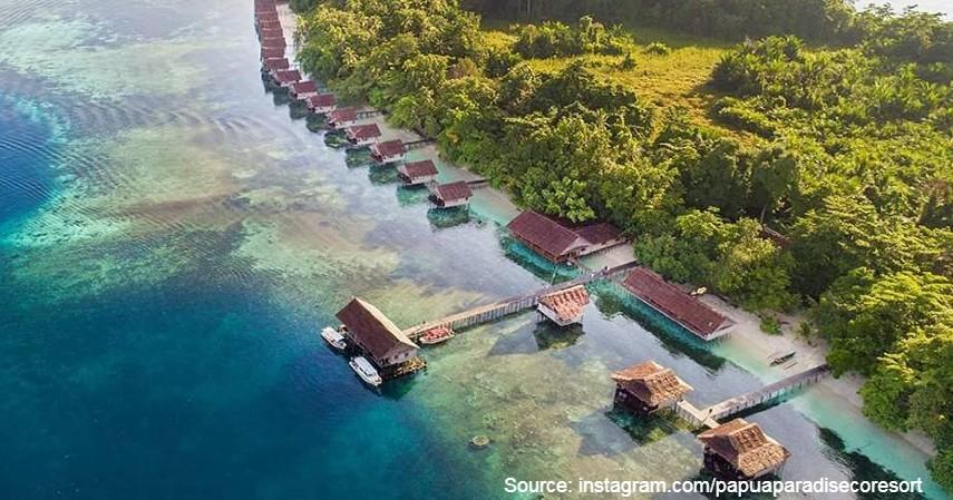 Papua Paradise Eco Resort - 10 Private Island Resort Terbaik di Indonesia Pemandangan Super Indah
