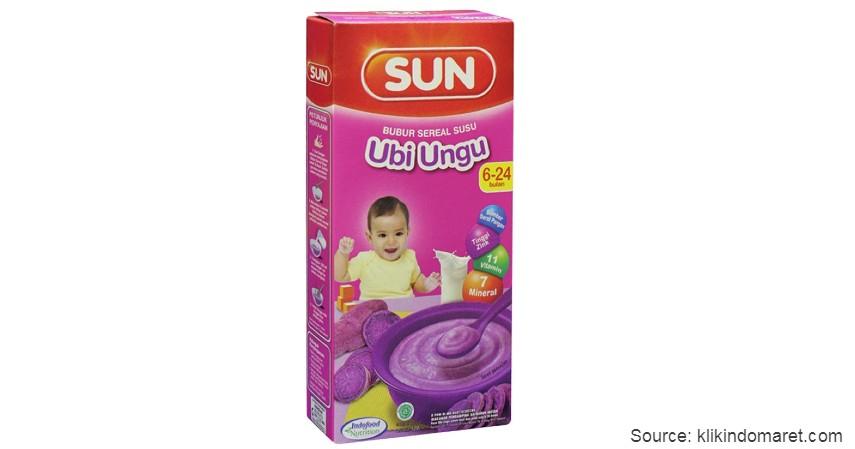 SUN Bubur Sereal Susu - 8 Merek Bubur Bayi Instan Terbaik dengan Komposisi Bergizi