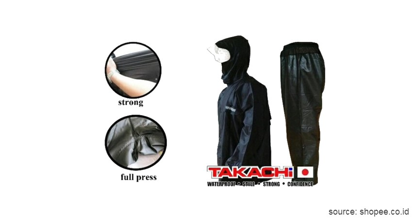 Takachi PVC - 8 Merk Jas Hujan Terbaik Anti Sobek dan Anti Rembes