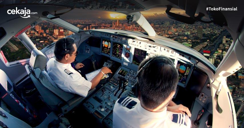 Perbedaan Pilot dan co-Pilot Beserta Rata-rata Gajinya