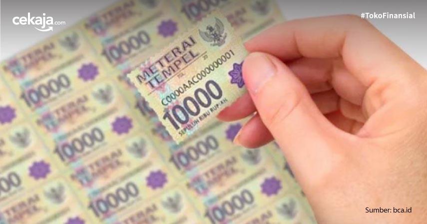 Ketentuan Penggunaan Materai 10.000, Naikan Income Negara