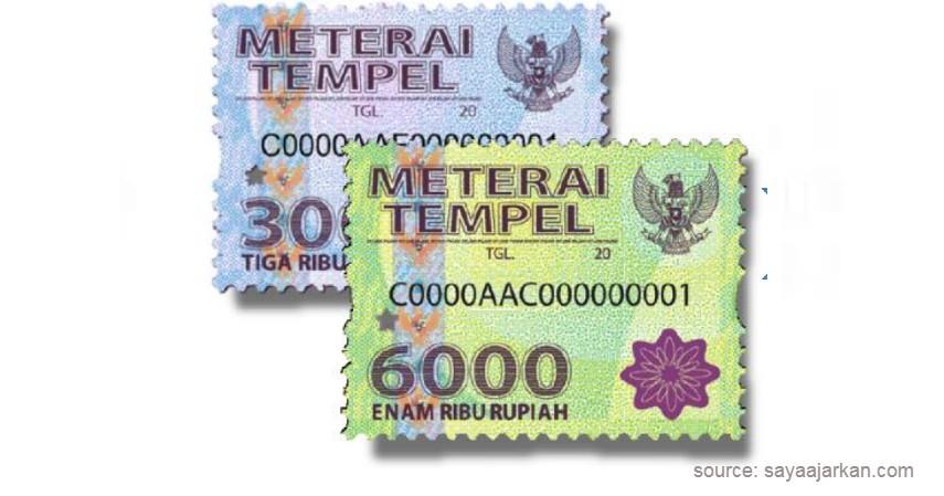 Materai Rp 3.000 dan Materai 6.000 - Ketentuan Penggunaan Materai 10.000, Naikan Income Negara.jpg