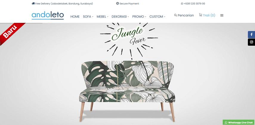 Andoleto - 12 Toko Furniture Lokal Terbaik