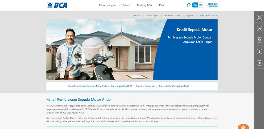 BCA Finance - 6 Situs Kredit Motor Honda Terbaik dan Terpercaya