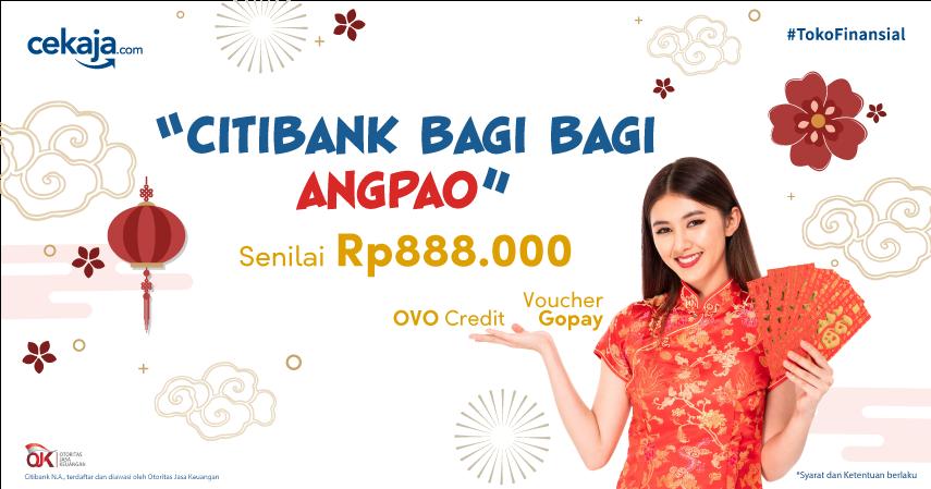 Yuk Ikut Promo 'Citibank Bagi Bagi Angpao' Dapatkan Voucher Go Pay hingga OVO Credit!