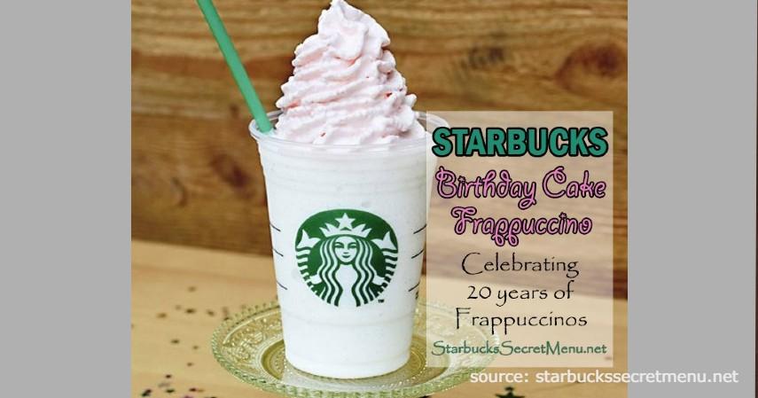Birthday Cake Frappuccino - Rekomendasi Menu rahasia Starbucks