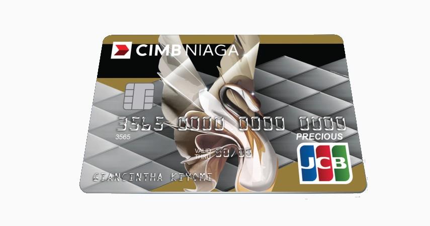 CIMB Niaga JCB Precious - 5 Kartu Kredit Terbaik Tanpa Iuran Tahunan