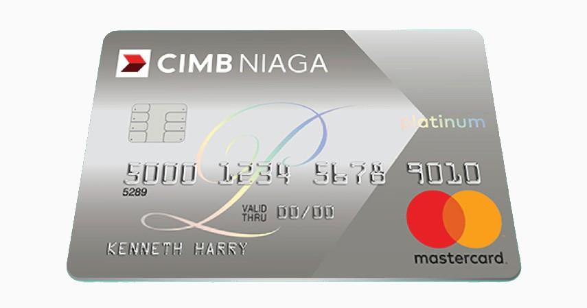 CIMB Niaga Mastercard Platinum - 5 Kartu Kredit Terbaik Tanpa Iuran Tahunan