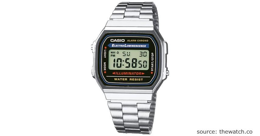 Casio Digital Watches A168WA–1WDF - 9 Jam Wanita Anti Air Terbaik