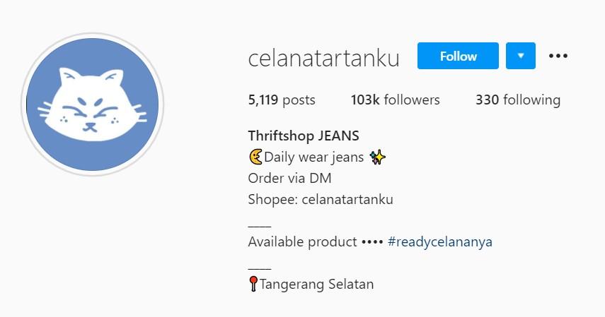 Celanatartanku - Rekomendasi Toko Thrift Online Terbaik di Instagram dan Shopee