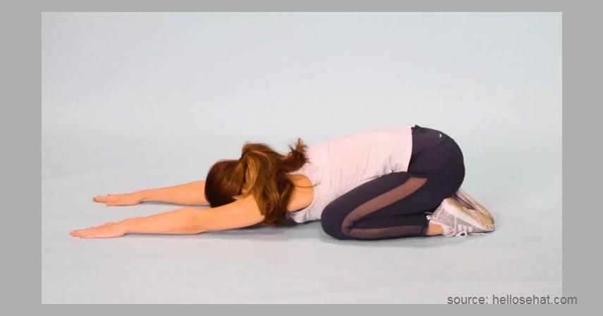Child's Pose - Gerakan Olahraga Sebelum Tidur