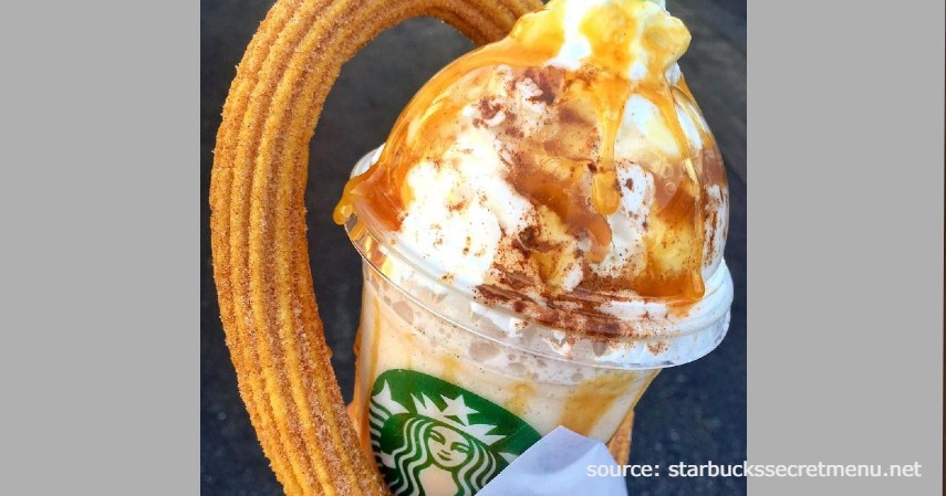 Churro Frappuccino - Rekomendasi Menu rahasia Starbucks